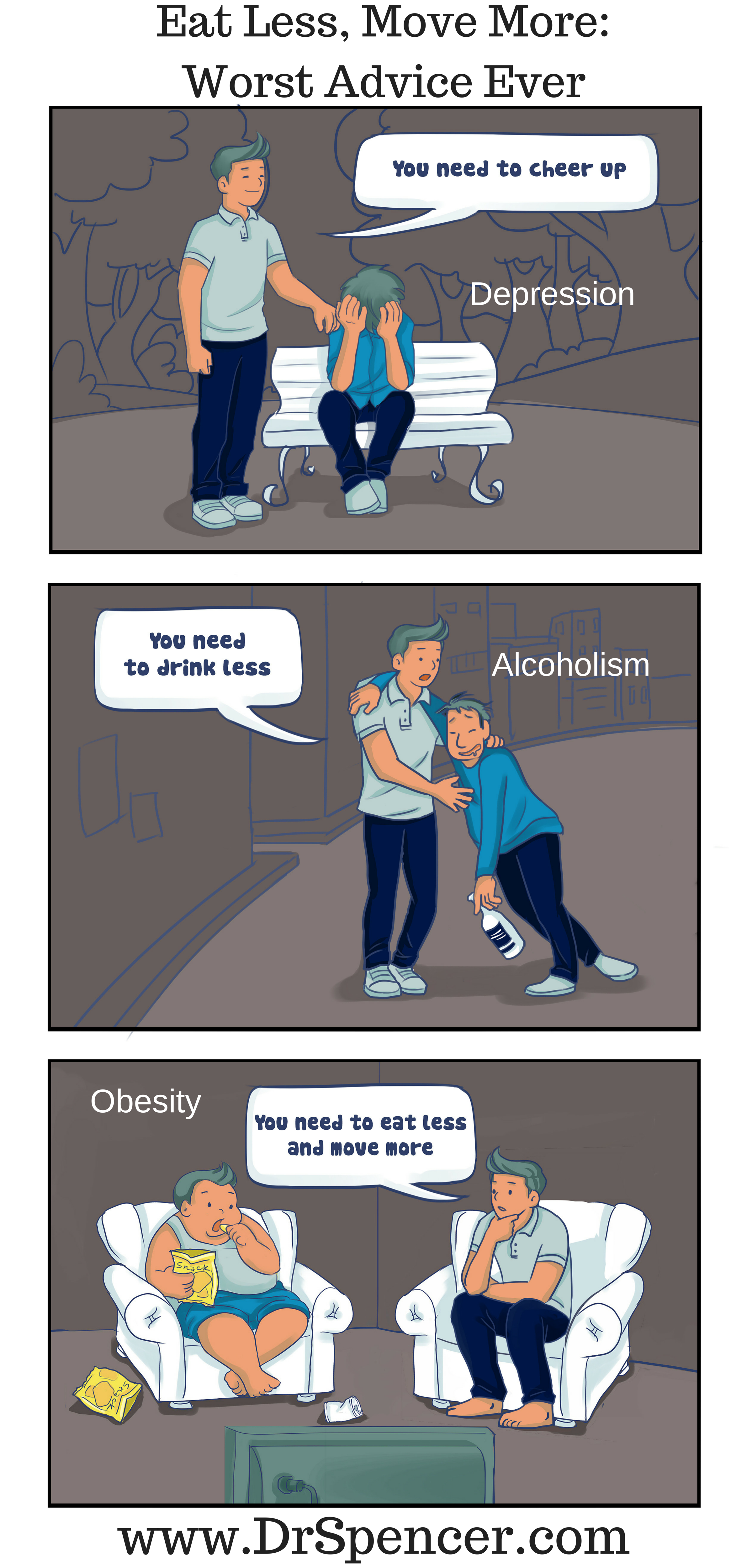 Eat Less, Move More- Worst Advice Ever