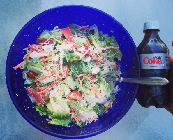 My big ass salad with a side Diet Coke